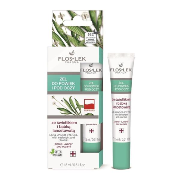 Floslek Pharma Lid & Under Eye Gel With Eyebright And Plantain - Sinir Otu İçerikli Göz Çevresi Aydınlatıcı Bakım Jeli