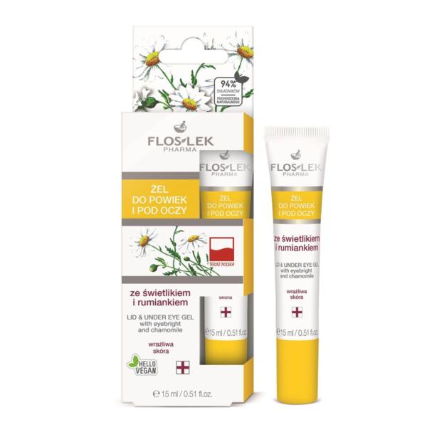 Floslek Pharma Lid & Under Eye Gel With Eyebright And Chamomile - Papatya İçerikli Göz Çevresi Aydınlatıcı Bakım Jeli