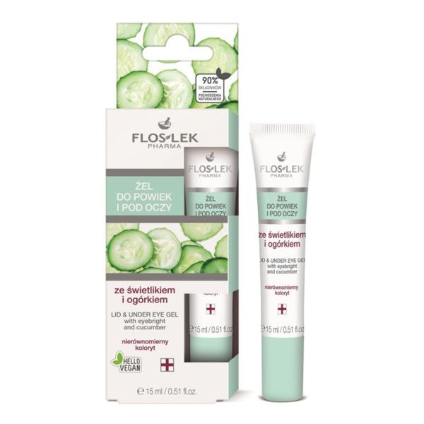 Floslek Pharma Lid & Under Eye Gel With Eyebright And Cucumber - Salatalık İçerikli Göz Çevresi Aydınlatıcı Bakım Jeli