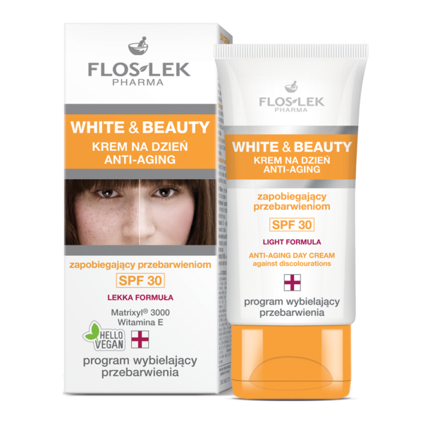 FL 1906  - Floslek Pharma WHITE & BEAUTY DAY CREAM ANTI-AGING AGAINST DISCOLOURATIONS SPF 30