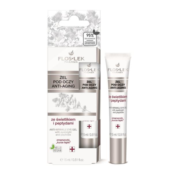 Floslek Pharma Anti-Wrinkle Under Eye Gel With Eyebright And Peptides - Çizgi Bakımı Yapan Peptit İçerikli Göz Çevresi Aydınlatıcı Bakım Jeli