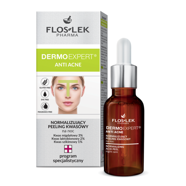 FL 6006 - Floslek Pharma DERMO EXPERT ANTI ACNE NORMALIZING ACID PEEL NIGHT CARE