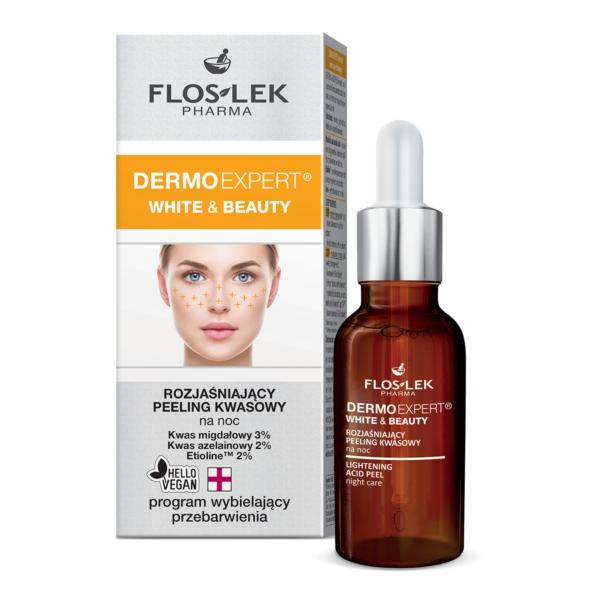 FL 6008 - Floslek Pharma DERMO EXPERT WHITE&BEAUTY LIGHTENNG ACID PEEL NIGHT CARE