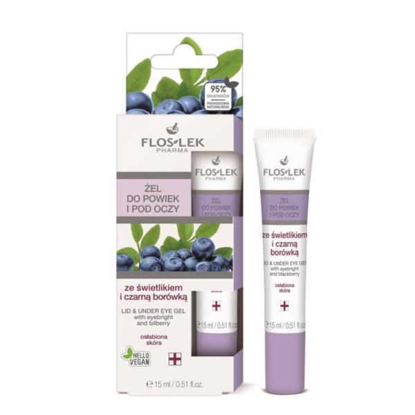 Floslek Pharma Lid & Under Eye Gel With Eyebright And Bilberry  - Yaban Mersini İçerikli Göz Çevresi Aydınlatıcı Bakım Jeli